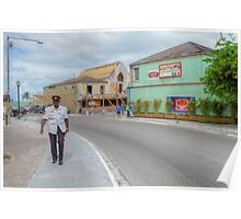 Entering Downtown Nassau from the West side in The Bahamas Poster