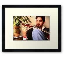Tuning the life Framed Print