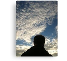 Man with Clouds on Friday Canvas Print