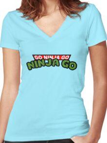 GO NINJA GO Women's Fitted V-Neck T-Shirt