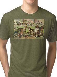 Vintage Dog Kennel Illustration Tri-blend T-Shirt
