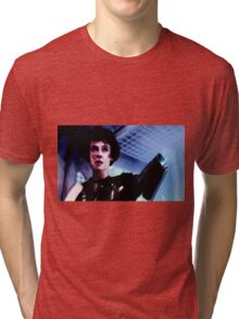 "Sigourney Weaver. In the movie ""Aliens""  Tri-blend T-Shirt"