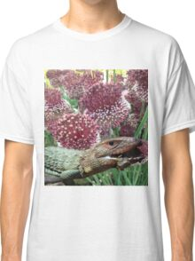 caiman lizard with flowers Classic T-Shirt