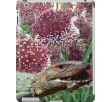 caiman lizard with flowers iPad Case/Skin