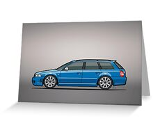 Audi RS4 A4 Avant Quattro B5 Type 8d Wagon Nogaro Blue Greeting Card