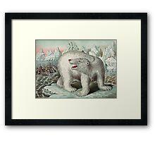 Vintage Polar Bear Illustration Framed Print