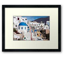 Oia Streetscape Framed Print
