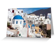 Oia Streetscape Greeting Card