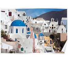 Oia Streetscape Poster