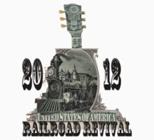 always rollin' - railroad revival 2012 entry t-shirt by lstamm138