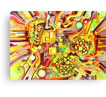 Distortion Sympathy - Watercolor Painting Canvas Print