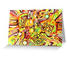 Distortion Sympathy - Watercolor Painting Greeting Card