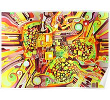 Distortion Sympathy - Watercolor Painting Poster