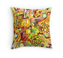 Distortion Sympathy - Watercolor Painting Throw Pillow