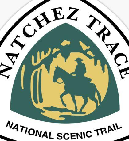 Natchez Trace Trail Sign, Mississippi, USA Sticker