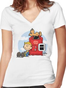 Dogmuts Women's Fitted V-Neck T-Shirt