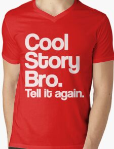 Cool Story Bro Mens V-Neck T-Shirt