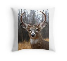 I am Prince - White-tailed deer Throw Pillow