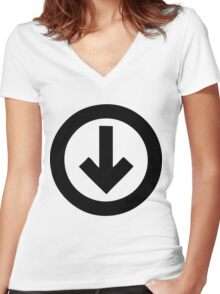 Under The Influence Women's Fitted V-Neck T-Shirt