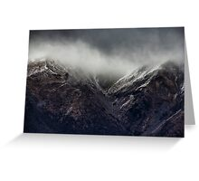 Snow showers on Mount Robert, New Zealand Greeting Card