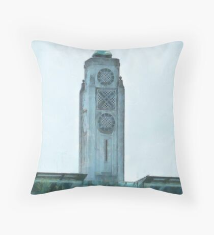 The OXO Tower on London's South Bank Throw Pillow