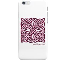 Celtic Knot n4 Garnet iPhone Case/Skin