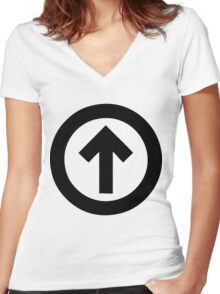 Above The Influence Women's Fitted V-Neck T-Shirt