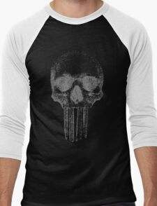 realpunisher Gray Men's Baseball ¾ T-Shirt