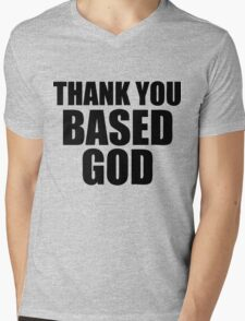 Thank You Based God Mens V-Neck T-Shirt
