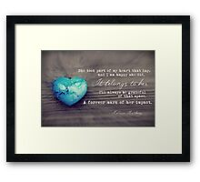 February 2013 - Lost For Words Framed Print