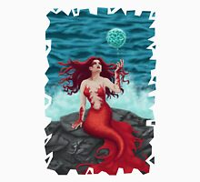 Mermaid and Water Orb Womens Fitted T-Shirt