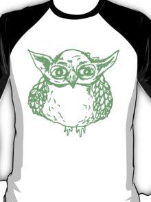Yoda Owl - Green T-Shirt