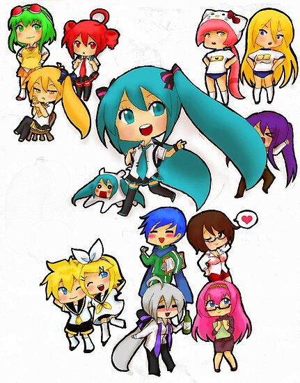 Vocaloid - Back to School by HappyApple