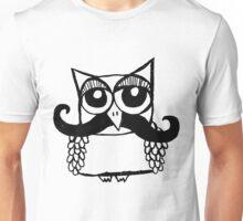 Moustache Owl Unisex T-Shirt