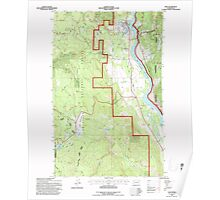 USGS Topo Map Washington State WA Ione 241668 1992 24000 Poster