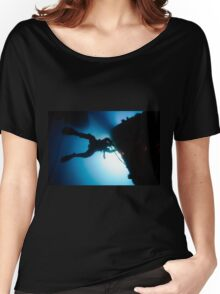 underwater Commercial diver welding pipes underwater. Women's Relaxed Fit T-Shirt