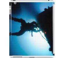 underwater Commercial diver welding pipes underwater. iPad Case/Skin