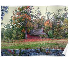 Little Red Log Cabin on the grounds of Ringwood Manor Poster