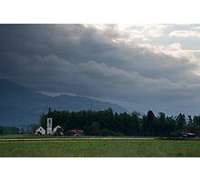 Twin churches Photographic Print