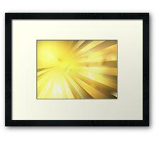 Charon Rays Framed Print