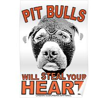 PIT BULLS WILL STEAL YOUR HEART Poster