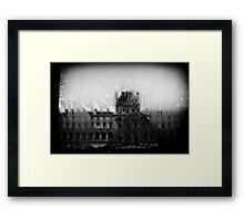 Travel BW - Paris Louvre Window Framed Print