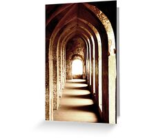 Historical Hallways Greeting Card