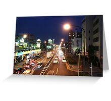 Tokyo street at night Greeting Card