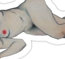 Lounging Woman - Nude Sticker