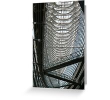 Made of glass and steel Greeting Card