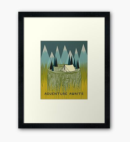 Adventure Awaits - Quote Art Framed Print