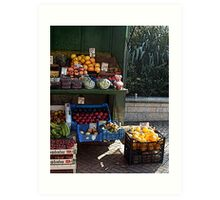 The fruit & veg stall Art Print