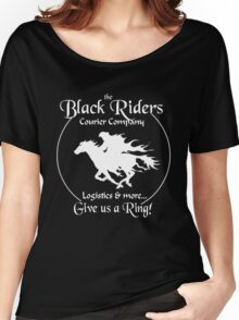Black Riders Courier Company (white version) Women's Relaxed Fit T-Shirt