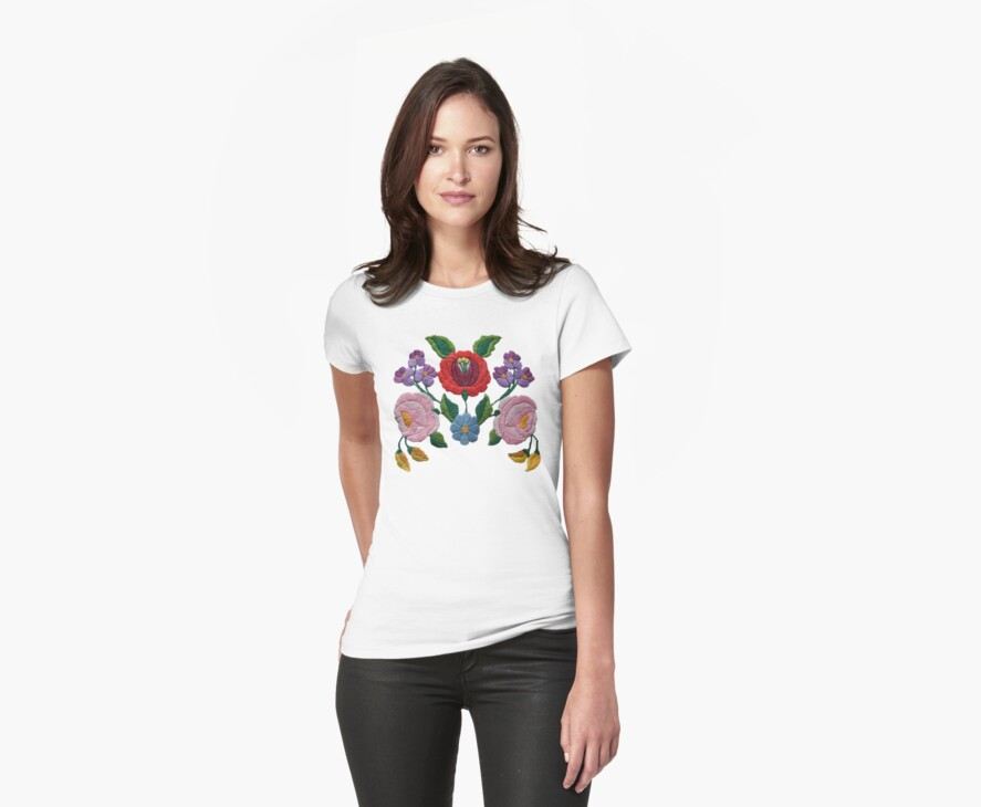 Kalocsai hand embroidery floral pattern by Ragcity